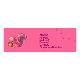 Pink squirrel Profile Card Business Card