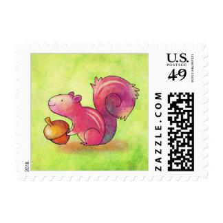 Pink Squirrel Stamp