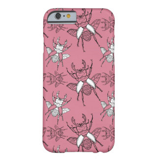 Pink Stag Beetles Pattern Barely There iPhone 6 Case