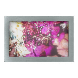 Pink stained glass belt buckle