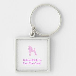 Pink Standard Poodle Keychain