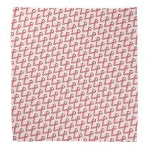 Pink Standard Ribbon Bandana