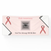 Pink Standard Ribbon Banner