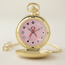 Pink Standard Ribbon (Bf) by K Yoncich Pocket Watch