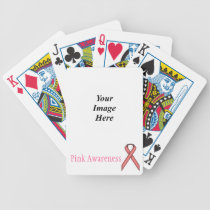 Pink Standard Ribbon by Kenneth Yoncich Bicycle Playing Cards