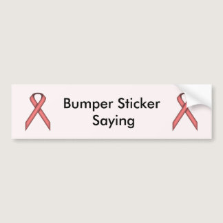 Pink Standard Ribbon by Kenneth Yoncich Bumper Sticker
