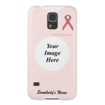 Pink Standard Ribbon by Kenneth Yoncich Case For Galaxy S5