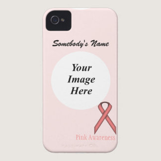 Pink Standard Ribbon by Kenneth Yoncich Case-Mate iPhone 4 Case