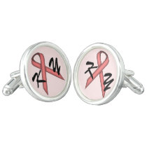 Pink Standard Ribbon by Kenneth Yoncich Cufflinks