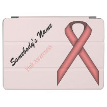 Pink Standard Ribbon by Kenneth Yoncich iPad Air Cover
