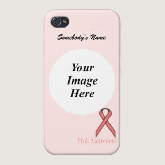 Pink Standard Ribbon by Kenneth Yoncich iPhone 4 Cases