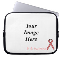 Pink Standard Ribbon by Kenneth Yoncich Laptop Sleeve