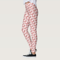 Pink Standard Ribbon by Kenneth Yoncich Leggings