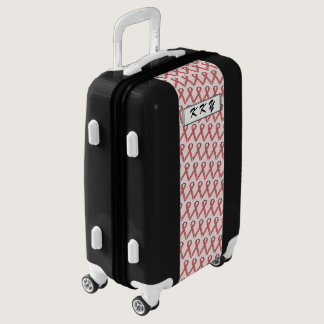 Pink Standard Ribbon by Kenneth Yoncich Luggage