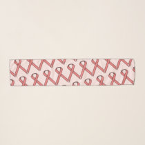 Pink Standard Ribbon by Kenneth Yoncich Scarf