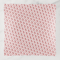Pink Standard Ribbon by Kenneth Yoncich Trinket Trays