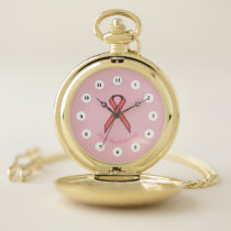 Pink Standard Ribbon (Cf) by K Yoncich Pocket Watch