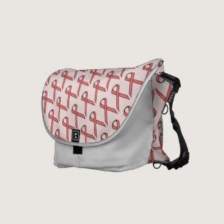Pink Standard Ribbon Courier Bag
