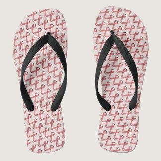 Pink Standard Ribbon Flip Flops