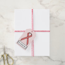 Pink Standard Ribbon Gift Tags