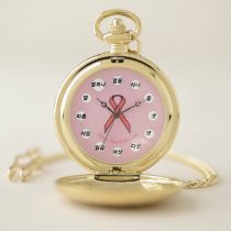 Pink Standard Ribbon (Kf) by K Yoncich Pocket Watch