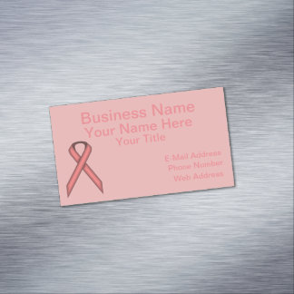 Pink Standard Ribbon Magnetic Business Card