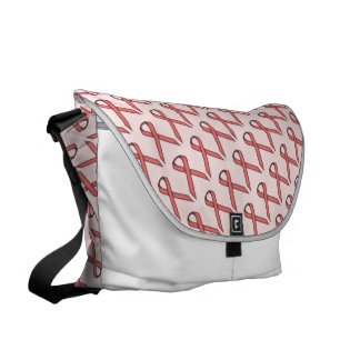 Pink Standard Ribbon Messenger Bag