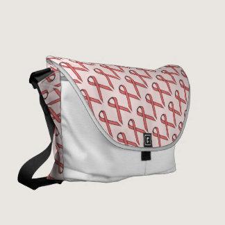 Pink Standard Ribbon Messenger Bag