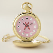 Pink Standard Ribbon (Mf) by K Yoncich Pocket Watch