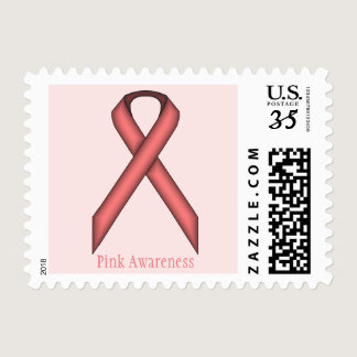 Pink Standard Ribbon Postage