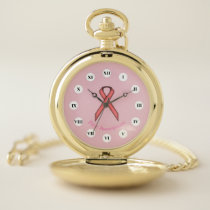 Pink Standard Ribbon (Rf) by K Yoncich Pocket Watch