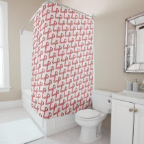 Pink Standard Ribbon Shower Curtain
