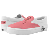 Pink Standard Ribbon Slip-On Sneakers
