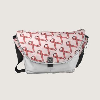 Pink Standard Ribbon Small Messenger Bag