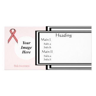 Pink Standard Ribbon Template