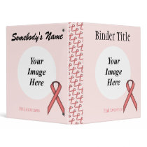 Pink Standard Ribbon Template 3 Ring Binder