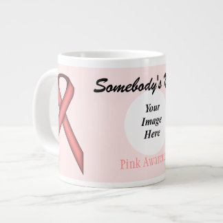 Pink Standard Ribbon Template by Kenneth Yoncich Giant Coffee Mug