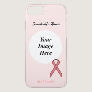 Pink Standard Ribbon Template by Kenneth Yoncich iPhone 7 Case