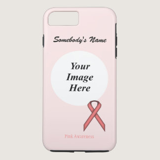 Pink Standard Ribbon Template by Kenneth Yoncich iPhone 7 Plus Case