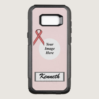 Pink Standard Ribbon Template by Kenneth Yoncich OtterBox Commuter Samsung Galaxy S8  Case