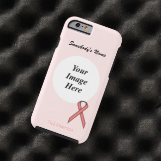 Pink Standard Ribbon Template by Kenneth Yoncich Tough iPhone 6 Case