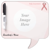Pink Standard Ribbon Template Dry-Erase Board
