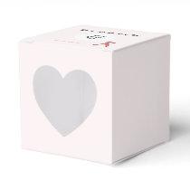 Pink Standard Ribbon Template Favor Box