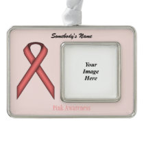 Pink Standard Ribbon Template (H-O) Ornament