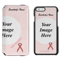 Pink Standard Ribbon Template iPhone 6/6s Wallet Case
