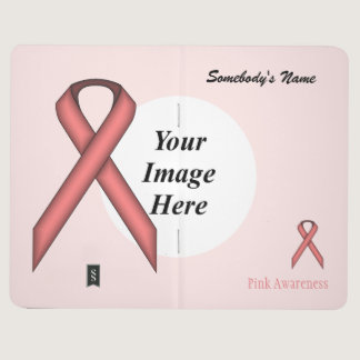 Pink Standard Ribbon Template Journal