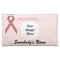 Pink Standard Ribbon Template Makeup Bag
