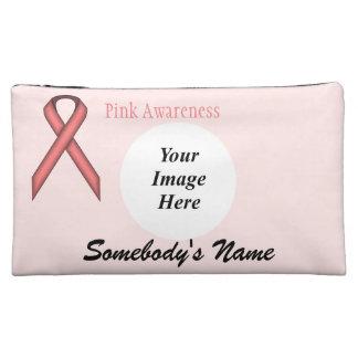 Pink Standard Ribbon Template Makeup Bag