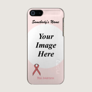 Pink Standard Ribbon Template Metallic Phone Case For iPhone SE/5/5s