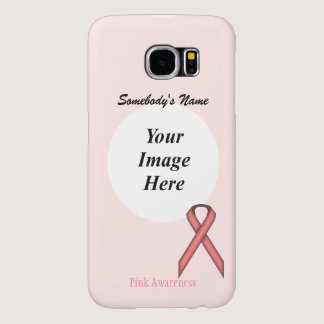 Pink Standard Ribbon Template Samsung Galaxy S6 Case